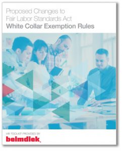 Beimdiek FLSA White Collar Exemption Rules Toolkit